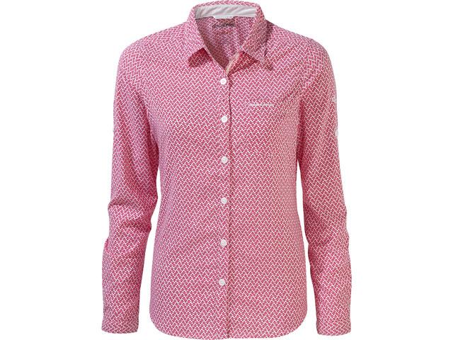 Craghoppers NosiLife Verona Long Sleeved Shirt Dame winter rose